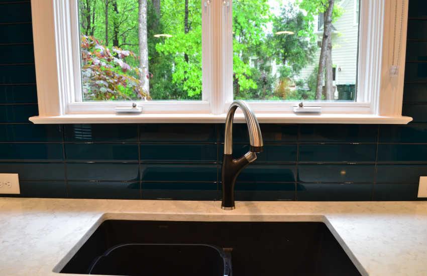 Whole house blue kitchen splash