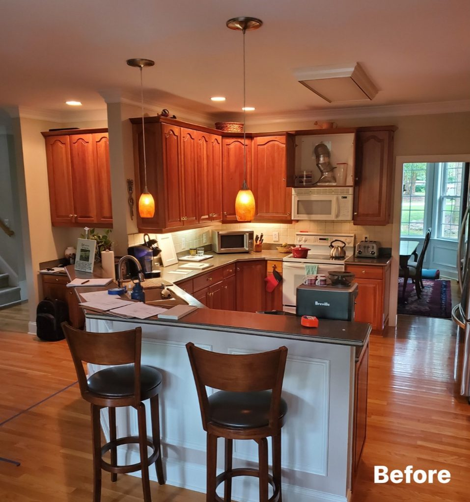Before picture of kitchen